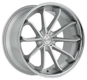 20 Blaque Diamond Bd 23 Silver Machined Wheels For Lexus Is250 Is350 Isf