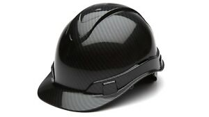 Protective Hard Hat Construction Safety Head Helmet Cap 4 Point Suspension Black