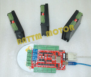 4 Axis Usbcnc Breakout Board Controller 3pcs Fmd2740c Stepper Motor Driver Kit
