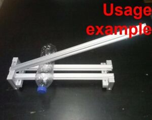Aluminum T slot Extruded Profile 20x20 6 Hand Lever Tool Frame Base 500x100x80mm