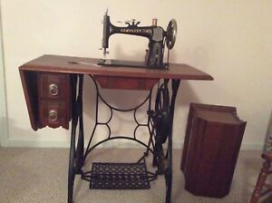Primitive Treadle Sewing Machine With Cast Iron Base Demorest
