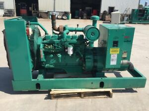 __80 Kw Cummins onan Generator 12 Lead Reconnectable 480 Volts Skid Mounted