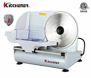 New Commercial Meat Food Slicer Electric Machine Professional Cutter Steel Blade