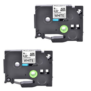Compatible With Brother 2pk Tz221 Tze221 Black On White Label Tape Pt1280 3 8