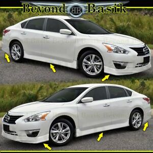 For 2013 2015 Nissan Altima Front Rear Bumper Chin Lip Side Skirts 4pc Body Kit
