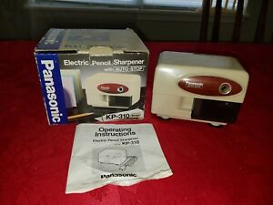 Vtg 1980 s Panasonic Kp 310 Electric Auto stop Pencil Sharpener With Box