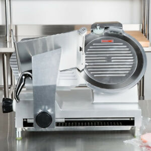 12 Electric Manual Gravity Feed Countertop Restaurant Deli Meat Slicer 1 2 Hp