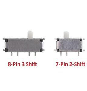 Mini Slide Switch Smd Toggle Switch 7 pin 2 shift 8 pin 3 Shift Msk 12c02 msk 02