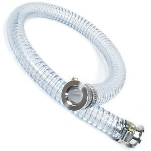 Pvc Flex Hose Kf 25 By 6 Foot Long With Iso kf Nw 25 Aluminum Flanges