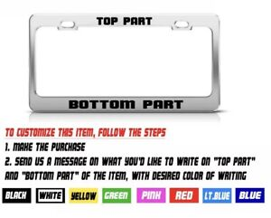 Chrom Metal Custom Personalized High Quality Metal License Plate Frame Tag Cover