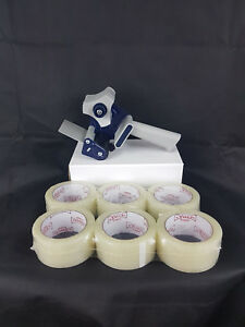 Heavy Duty Packing Tape Gun Dispenser 3 Inch High Quality With 6 Rolls 2 Tape