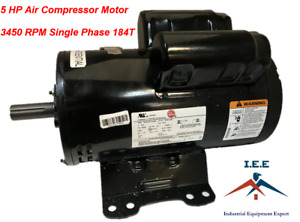 56283138 Ir Motor 5 Hp Air Compressor Electric Motor Capacitor Start run 24 9amp