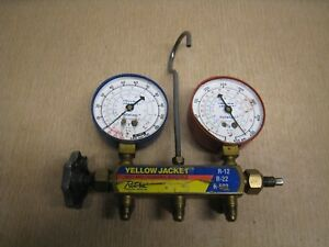 Yellow Jacket Test And Charging Manifold Gauges R 12 R 22 R 502 Free Shipping