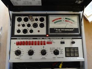 Excellent Very Nice Working Sencore Tc28 Hybrider Tube Tester