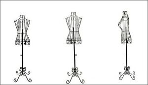 Steel Female Body Form Stand Mannequin Adjustable Designers Decorative Sturdy