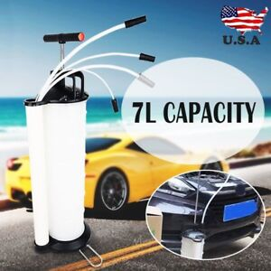 Manual 7liter Oil Changer Vacuum Fluid Extractor Pump Tank Remover Car New Max
