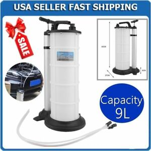 9l Vacuum Oil Fluid Extractor Transfer Pump Fuel Petrol Coolant Water Manual Mx