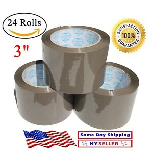 24 Rolls Brown Tan Carton Sealing Packing Tape Shipping 3 Inch 3 x110 Yd 330