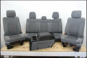 11 14 Ford F150 Pickup Truck Crew Cab Front Seats Bench 40 20 40 Console Cloth