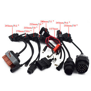 8pcs Obd Obdii Cables For Cdp Tcs Hd Pro Cars Diagnostic Interface Scanner Used