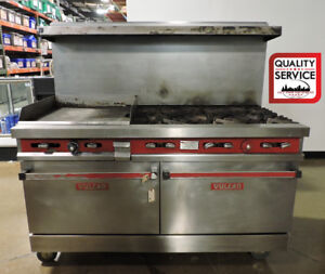 Vulcan V60f 2 Commercial Gas Range W 6 Burners 24 Griddle 2 Standard Ovens