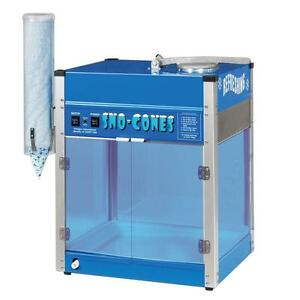 Commercial Snow Cone Maker Hawaiian Shaved Ice Machine Snowball Slushy Cup Hold