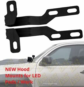 New Engine Hood Mounting Brackets For Led Pods Toyota Tacoma 2005 2015