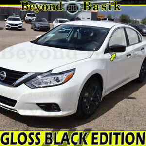 For 2013 2018 Nissan Altima Gloss Black Mirror Covers Overlay W o Turn Signal