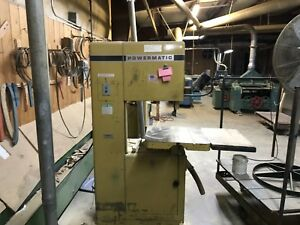 20 Powermatic Model 81 Vertical Band Saw Wood Working