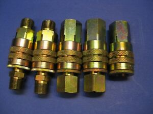 Perfecting Coupling Brass Coupler 1 2 Fnpt X 1 2 Body Mixed Lot Of 5