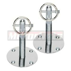 Stainless Hood Pin Set Chrome Hardware Fits Chevy Ford Mopar Drag Racing Race