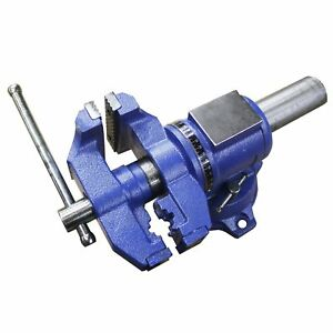 Heavy Duty Bench Vise Forged 360 Swivel Base With Lock Anvil Top 5 New
