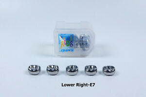 20pcs Dental Kid Primary Molar Crown Lre7 Stainless Steel Preformed Pediatric