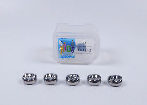 20pcs Dental Kid Primary Molar Crown Lld2 Stainless Steel Preformed Pediatric