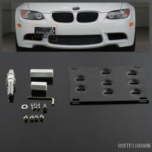 Bumper Tow Hook License Plate Mounting Bracket For Bmw E90 E91 3 Series 325i M3