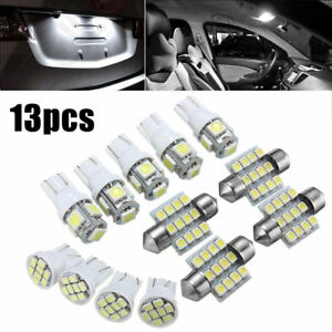 13x White Led Package Interior For Dome Map License Lights T10 31mm Bulb Lamp