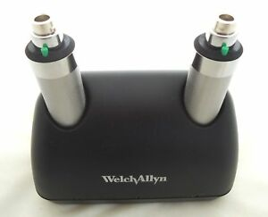 Welch Allyn 71630 Desk Charger With 2 Nicad Handles New