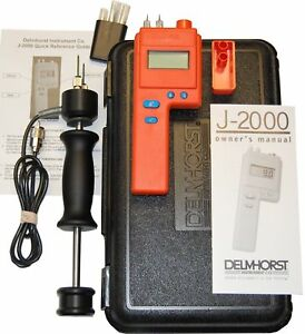 Delmhorst J 2000 pkg Digital Pin type Wood Moisture Meter Expanded Package New