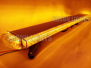 55 Led Light Bar Traffic Advisor Roof Top Flashing Warn Emergency Strobe Amber