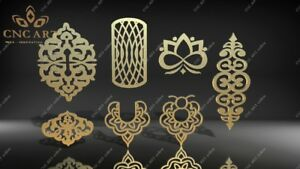 7 Nice Ornaments Dxf Dwg And Eps File For Cnc Plasma Router Laser Water Jet