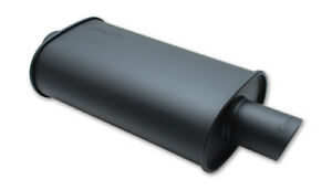 Vibrant Flat Black Oval Muffler With Single 4in Outlet 4in Inlet I D