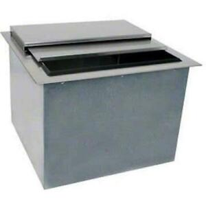 Glastender Commercial 18 Drop in Ice Bin Di ib18 With Lid