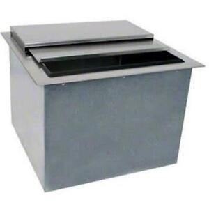 Glastender Commercial 24 Drop in Ice Bin Di ib24 With Lid