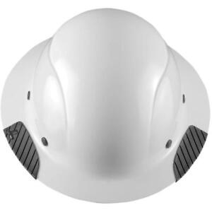 New Lift Safety Hdf 15wg Dax Full Brim White Hard Hat W Ratchet Suspension