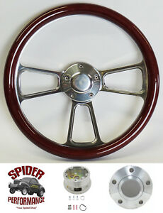 1965 1966 Gto Steering Wheel Tilt 14 Mahogany Billet