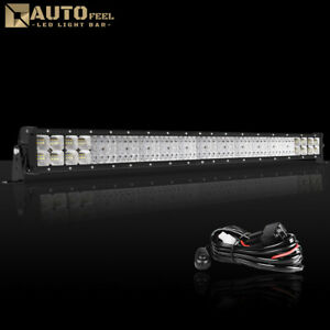 1890w 32inch Cree Led Light Bar Combo Tri Row Dual Color Work Lamp 30 34 Auto