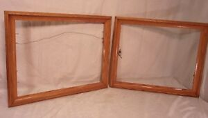 Pair Of Vintage Oak Frames 18 3 4 X 22 3 4 Holds 16x20 Molding 1 3 4