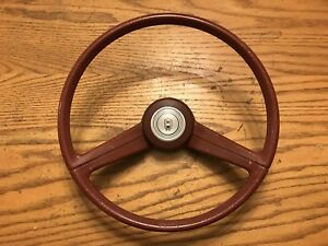 80 Ford Fairmont Futura Steering Wheel Center Horn Button Used Oem