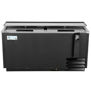 65 Black Horizontal Restaurant Bar Beer Bottle Cooler 17 5 Cubic Feet 115v