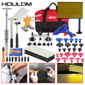 Hot Paintless Dent Repair Puller Lifter Pdr Tools T bar Hammer Removal Glue Kit